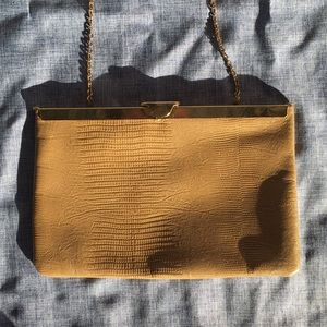 Vintage 1950s Etra Leather Clutch